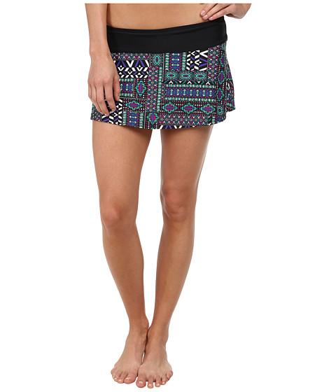 Prana - Sakti Swim Skirt (Black Patchwork) Women's Swimwear
