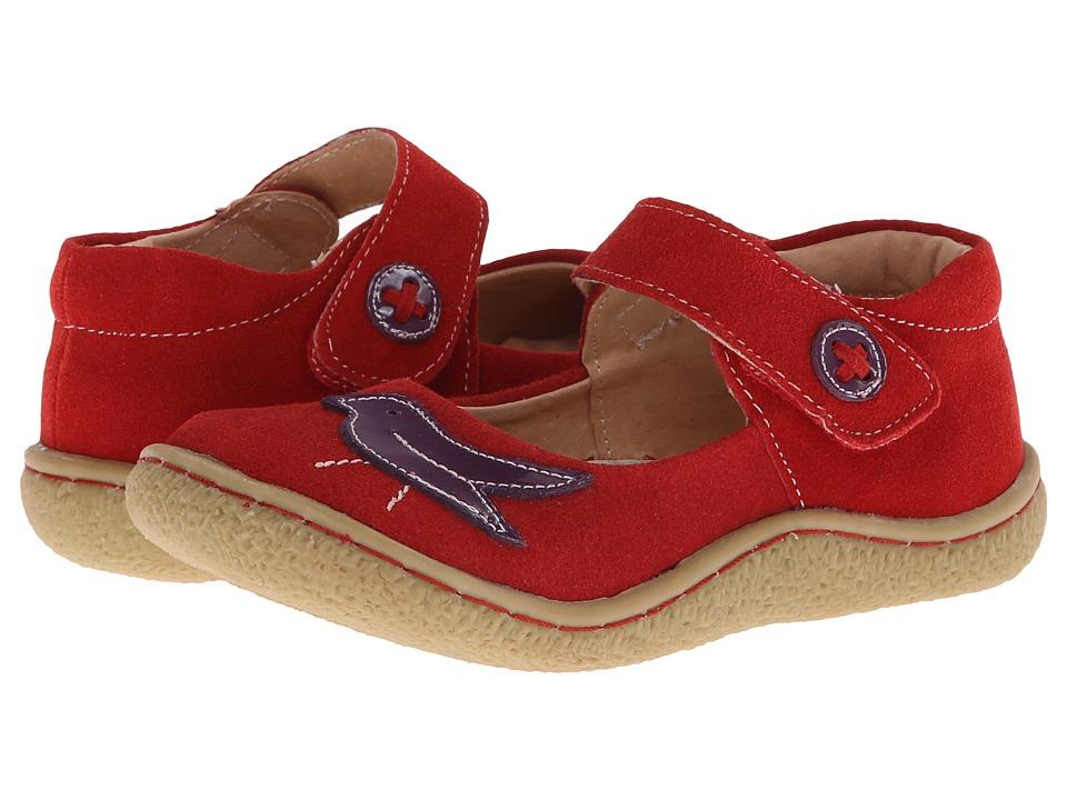Livie & Luca - Pio Pio (Toddler) (Red Suede) Girls Shoes