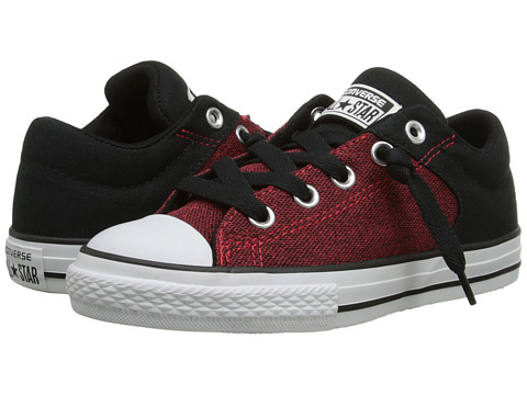 Converse Kids - Chuck Taylor All Star High Street Material Mix Slip (Little Kid/Big Kid) (Casino/Black/Black) Boys Shoes