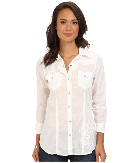 Stetson - 9134 Lawn Blouse (White) Women's Blouse