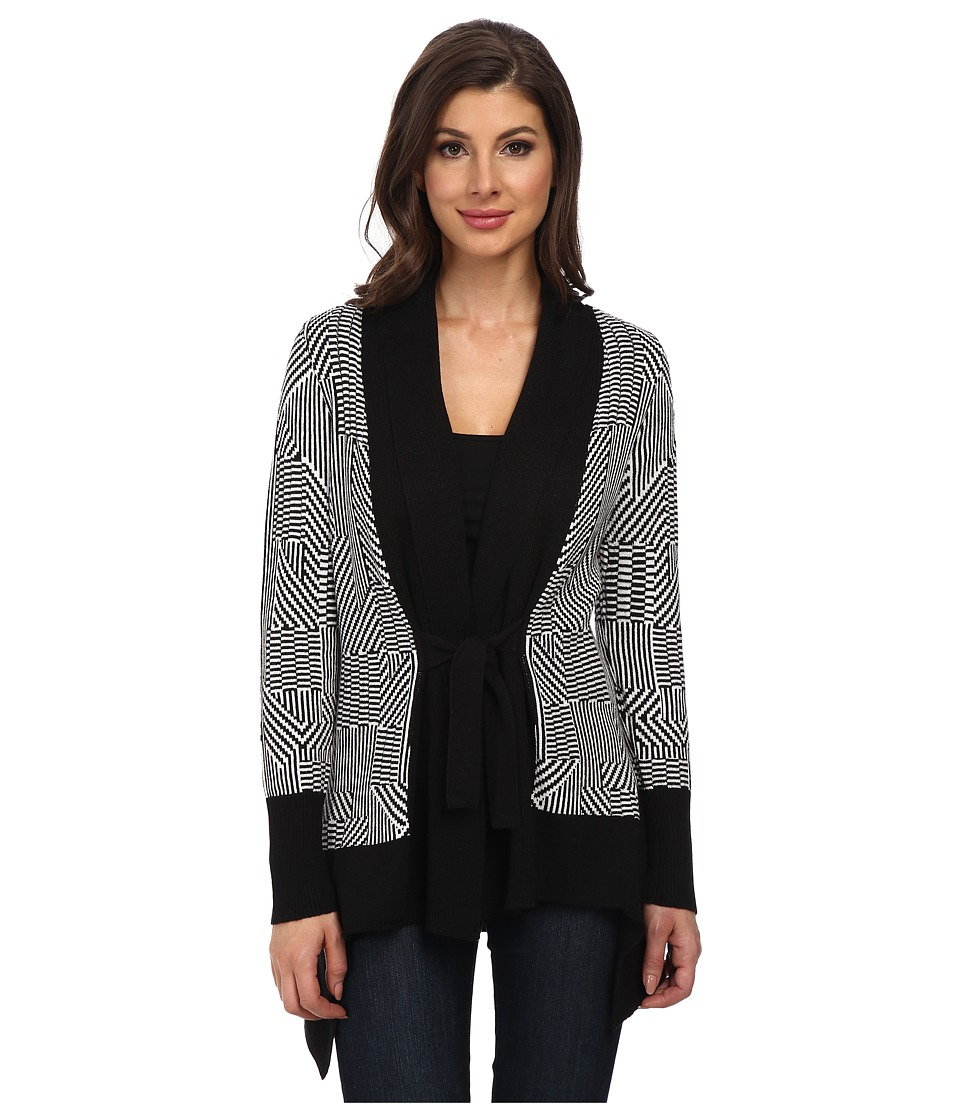NIC+ZOE - Optic Tie Front Cardy (Multi) Women's Sweater
