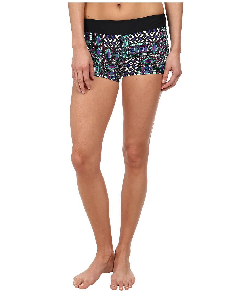 Prana - Raya Bottom (Black Patchwork) Women's Swimwear