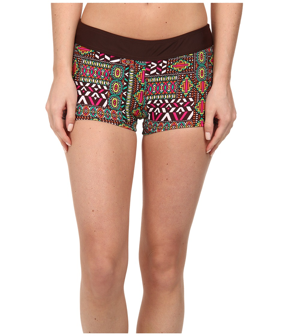 Prana - Raya Bottom (Expresso Patchwork) Women's Swimwear