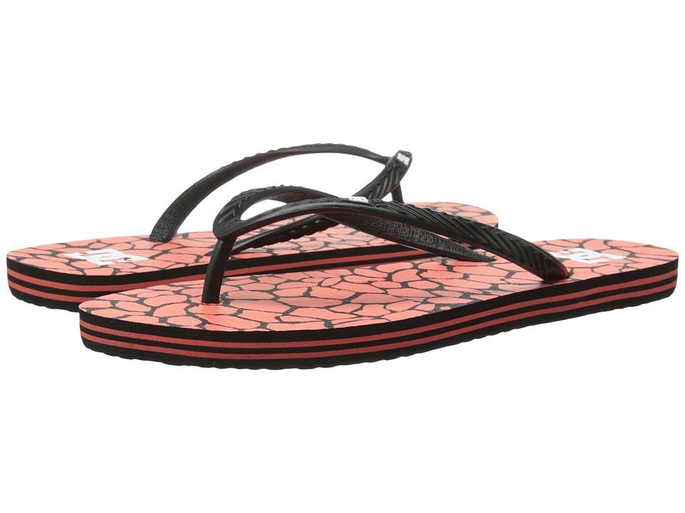 DC - Spray Graffik W (Black/Crazy Pink Print) Women's Skate Shoes