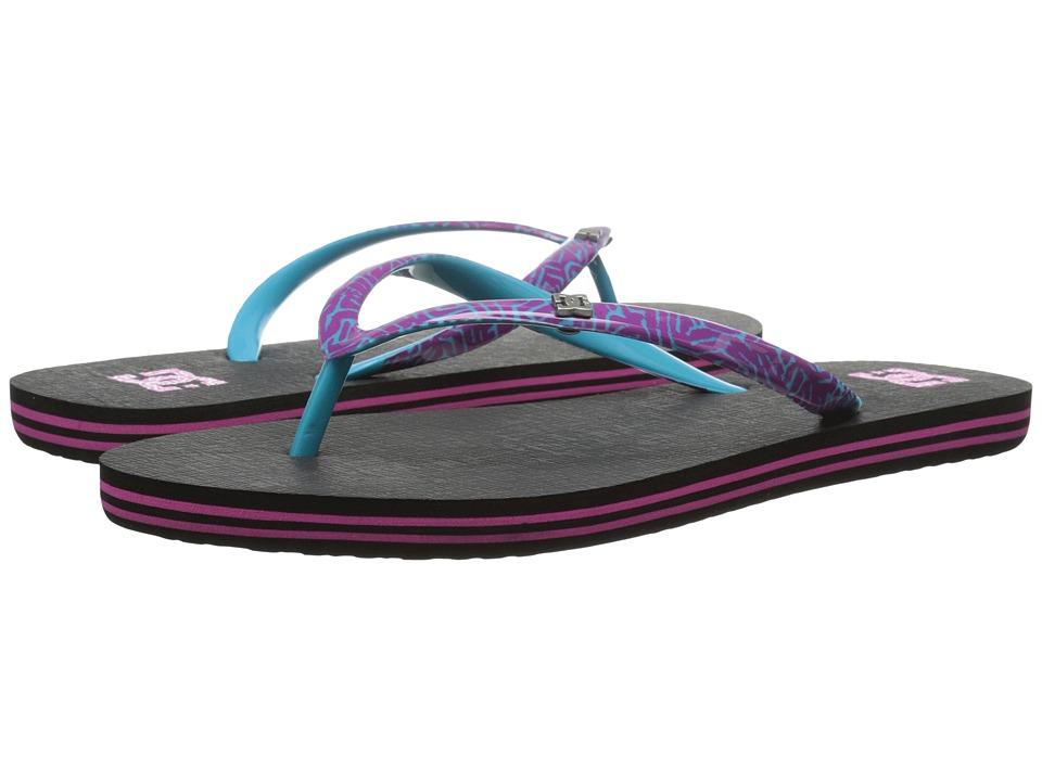 DC - Spray SE (Black/Purple) Women's Sandals