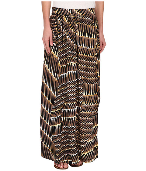 NIC+ZOE - Between The Lines Hand Painted Maxi Skirt (Multi) Women's Skirt