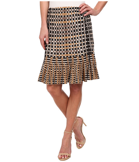 NIC+ZOE - Flared Squares Wink Skirt (Multi) Women's Skirt
