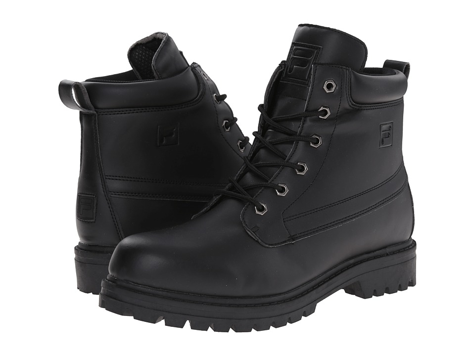 Fila - Edgewater 12 (Black/Black 1) Men's Lace-up Boots