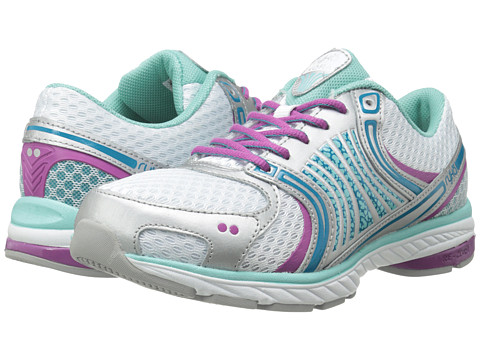 Ryka - Kora (White/Aqua Sky/Enamel Blue/Dahlia Mauve/Chrome Silver) Women's Running Shoes