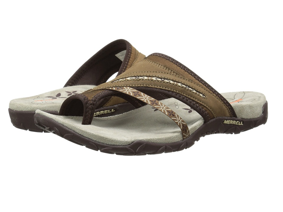 Merrell - Terran Post (Dark Earth) Women's Sandals