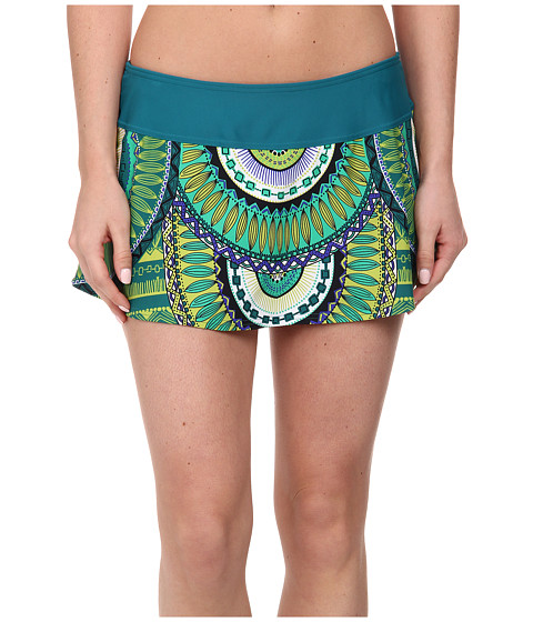 Prana - Sakti Swim Skirt (Teal Tribe) Women