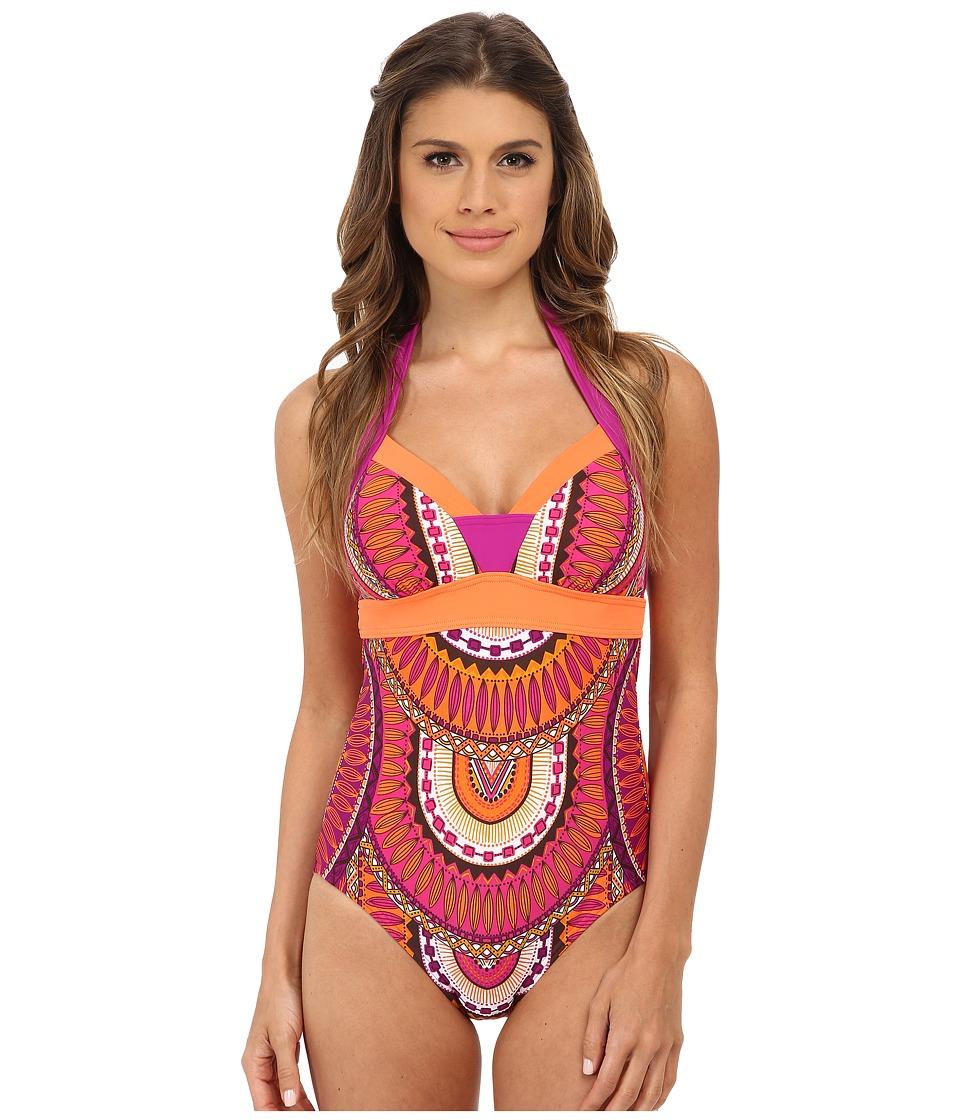 Prana - Isla One Piece Swimsuit (Fuchsia Tribe) Women's Swimsuits One Piece