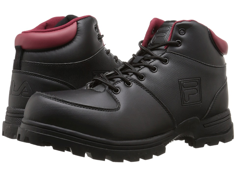Fila - Ascender 2 (Black/Biking Red) Men's Lace-up Boots