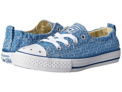 Converse Kids - Chuck Taylor All Star Shoreline Star Perf Slip (Little Kid/Big Kid) (Ocean/Natural/White) Girls Shoes