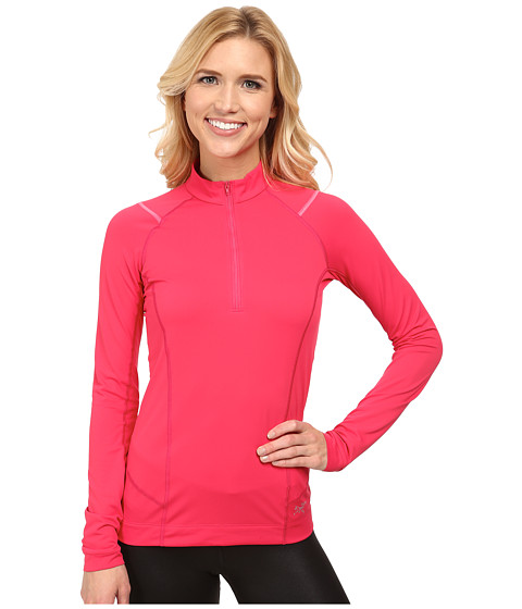 Arc'teryx - Ensa Zip Neck L/S (Tourmaline) Women's Long Sleeve Pullover