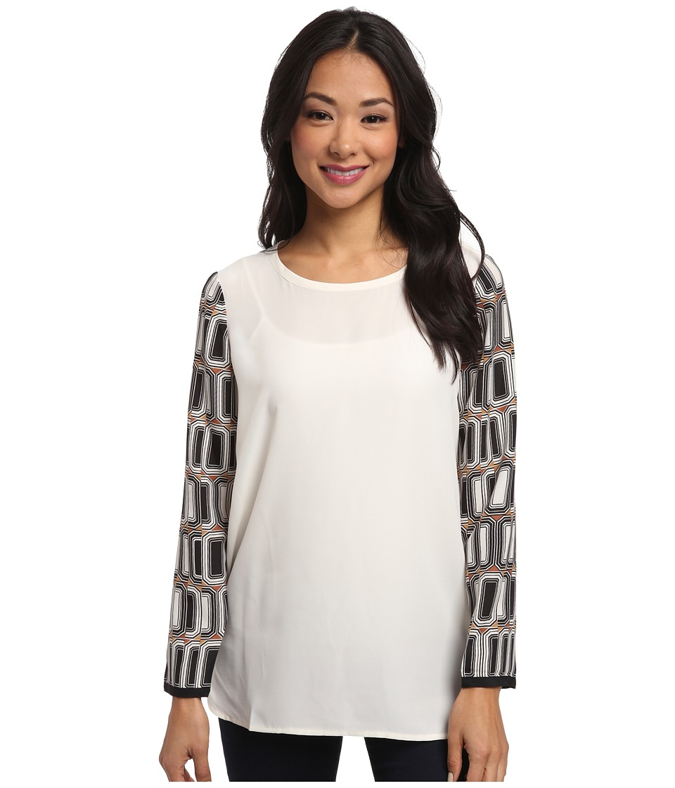 NIC+ZOE - Modern Gems Textured Crepe Shirt (Multi) Women's Blouse