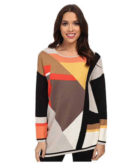 NIC+ZOE - Wild Color Block Top (Multi) Women's Long Sleeve Pullover