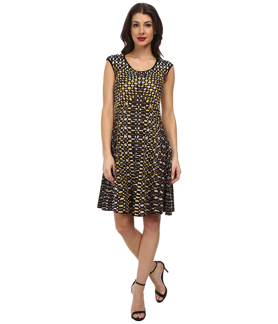 NIC+ZOE Textural Dots Twirl Dress (Multi) Women
