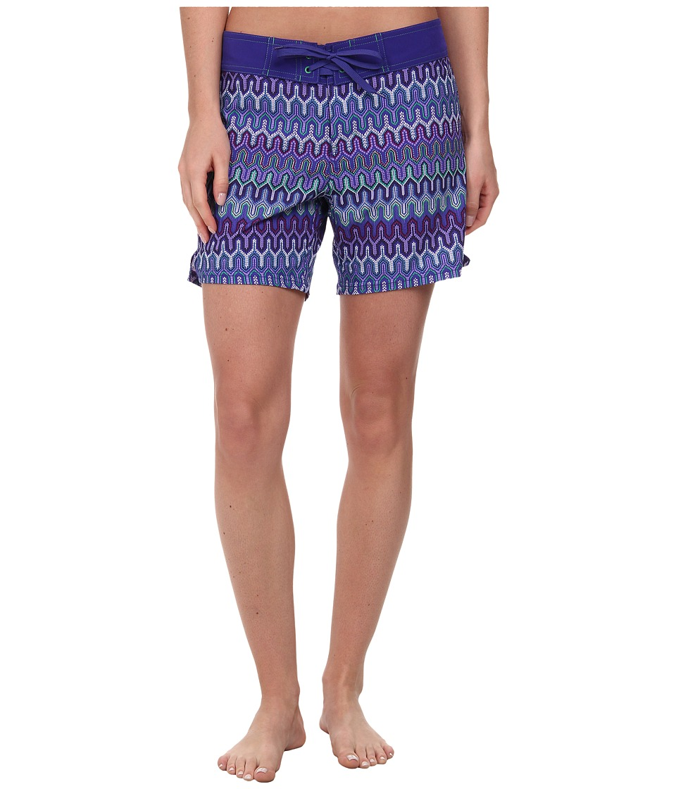 Prana - Makenna Boardshort (Sail Blue Ibiza) Women's Swimwear
