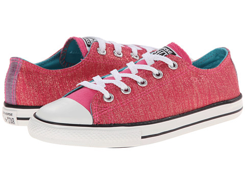 Converse Kids - Chuck Taylor All Star East Coaster Shine Ox (Little Kid/Big Kid) (Pink Paper) Girls Shoes