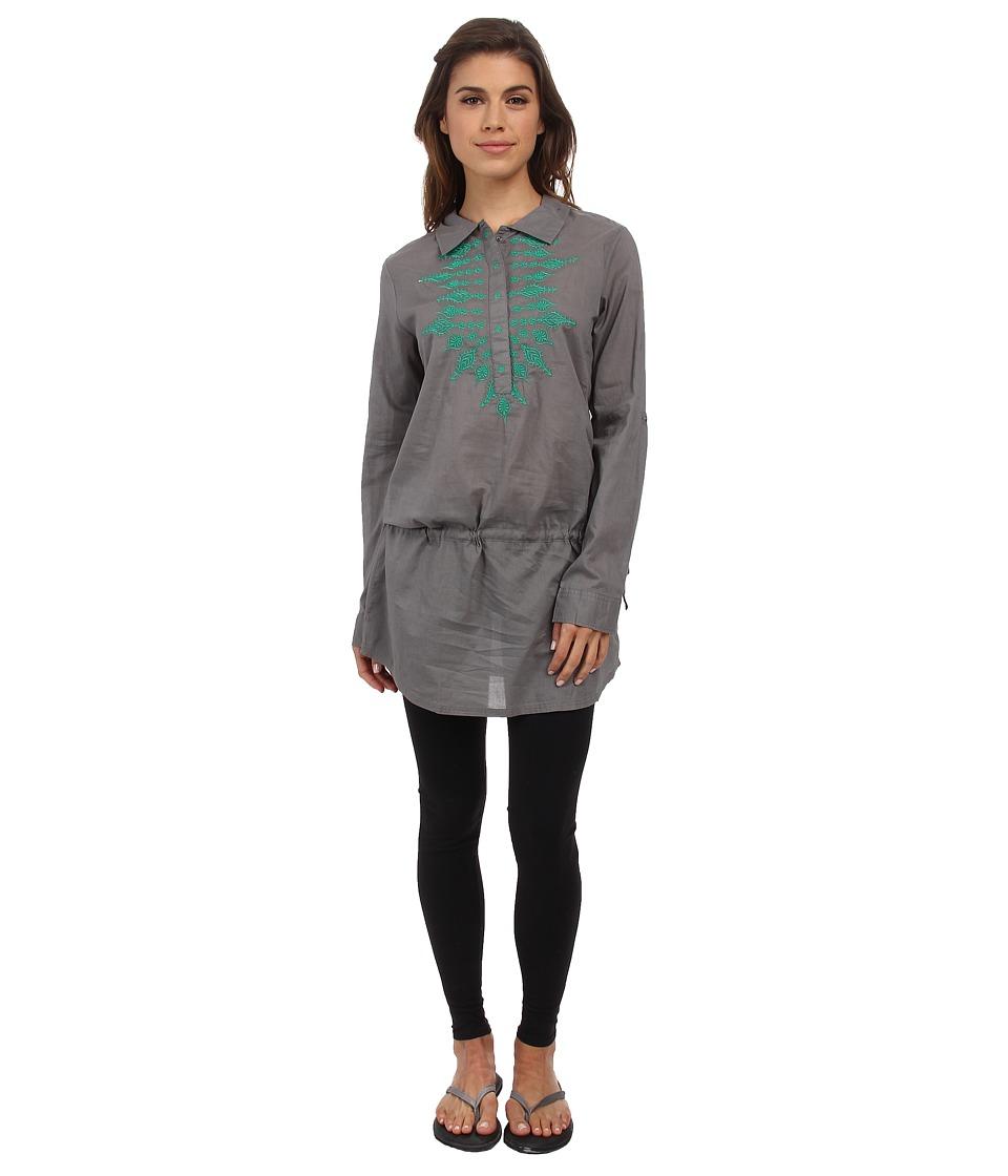 Prana - Leta Tunic (Gravel) Women's Short Sleeve Pullover