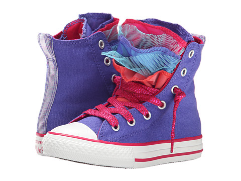 Converse Kids - Chuck Taylor All Star Party Shine Hi (Little Kid/Big Kid) (Periwinkle/Berry Pink/Blush) Girls Shoes