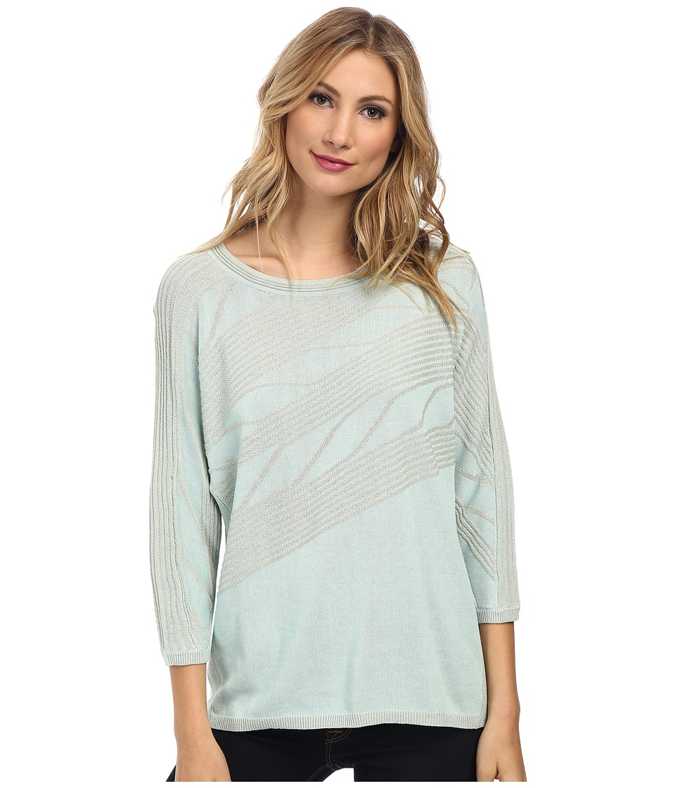NIC+ZOE - Ocean Mist Top (Clearwater) Women's Long Sleeve Pullover