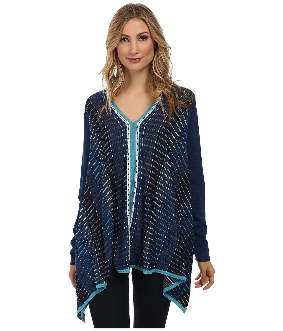 NIC+ZOE - Go Overboard Top (Multi) Women's Long Sleeve Pullover
