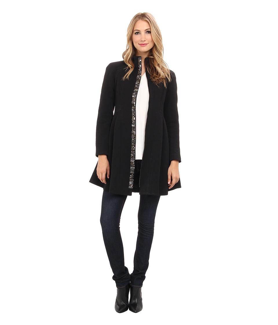 Nanette Lepore - Three-Ring Coat (Black) Women's Coat