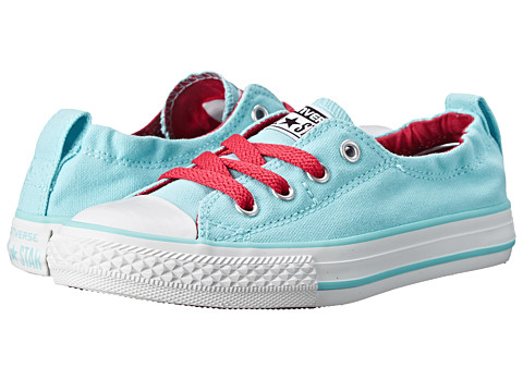 Converse Kids - Chuck Taylor All Star Shoreline Slip (Little Kid/Big Kid) (Poolside/Berry Pink/White) Girls Shoes