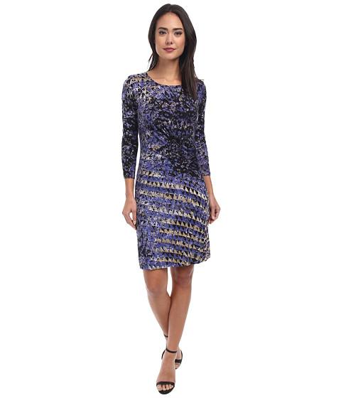 NIC+ZOE - Utopia Hand Painted Twist Dress (Multi) Women