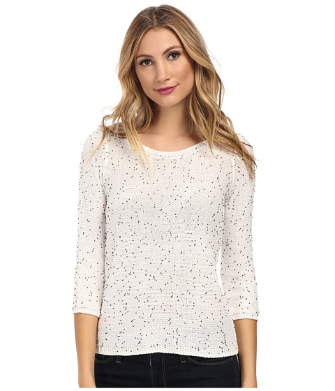 NIC+ZOE - Starry Streets Top (Milk White) Women's Sweater