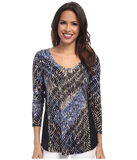 NIC+ZOE - Utopia Hand Painted Top (Multi) Women's Long Sleeve Pullover