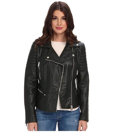 Blank NYC - Vegan Leather Moto Jacket in Frankenstorm (Frankenstorm) Women's Coat
