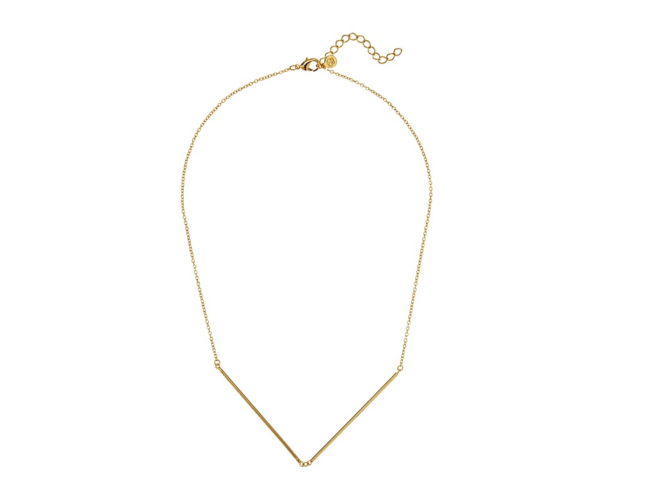gorjana - Greer V-Neck Necklace (Gold) Necklace