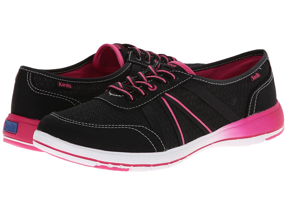 Keds - Fuse (Black Canvas/Mesh) Women's Lace up casual Shoes