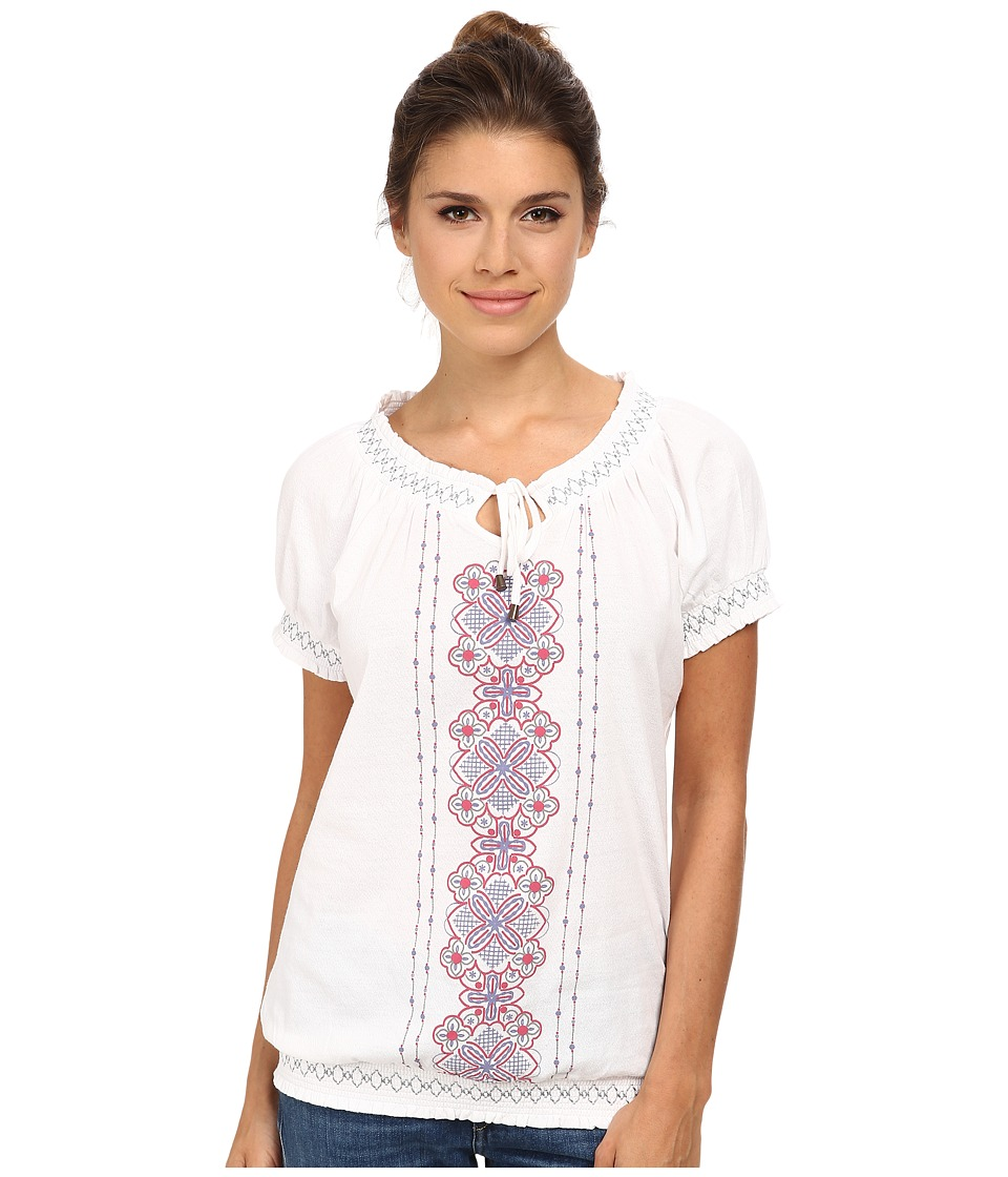 Aventura Clothing - Mila S/S Top (White) Women's Short Sleeve Pullover