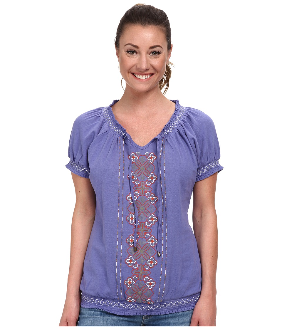 Aventura Clothing - Mila S/S Top (Violet Storm) Women's Short Sleeve Pullover