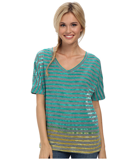 Prana - Adrienne Top (Dynasty Green) Women's Short Sleeve Pullover