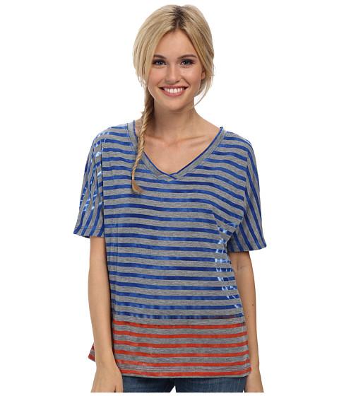 Prana - Adrienne Top (Sail Blue) Women's Short Sleeve Pullover
