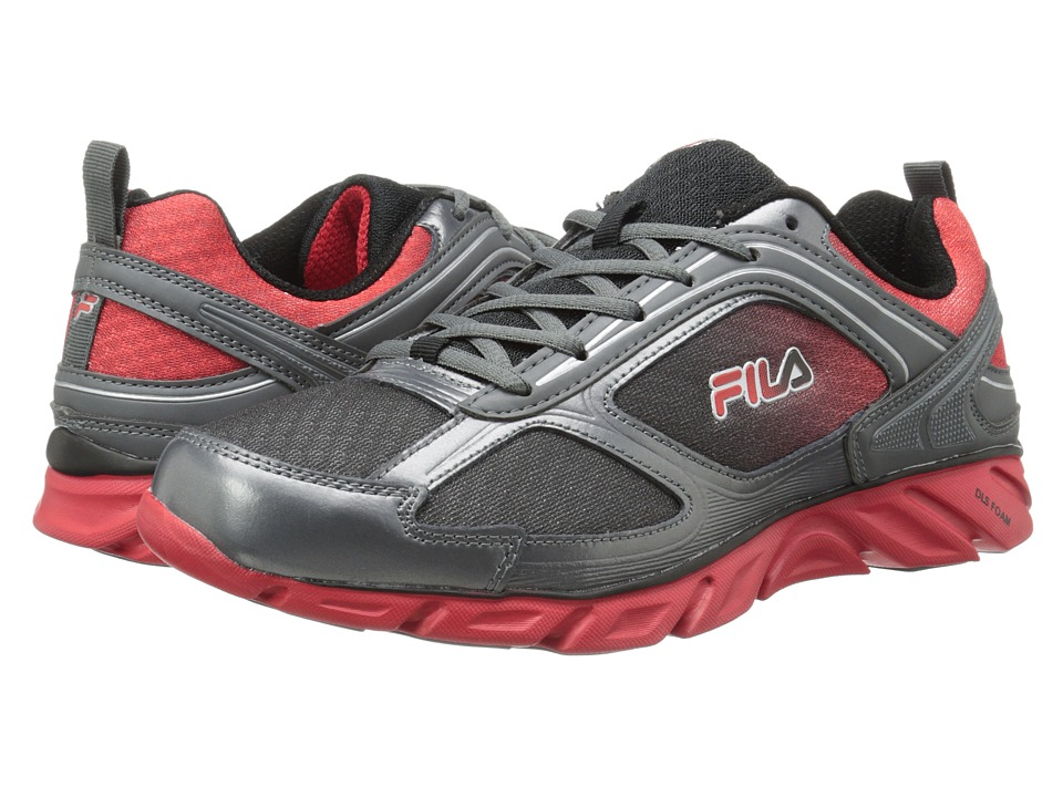 Fila - Stride 3 (Black/Dark Silver/Fila Red) Men's Running Shoes