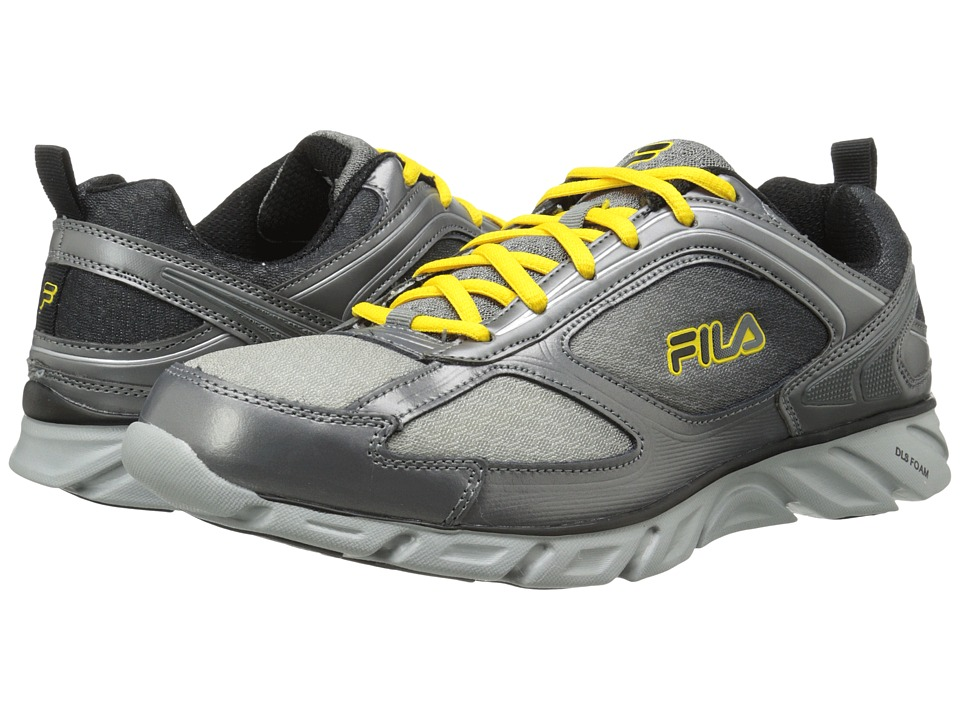 Fila - Stride 3 (Metallic Silver/Pewter/Lemon) Men's Running Shoes