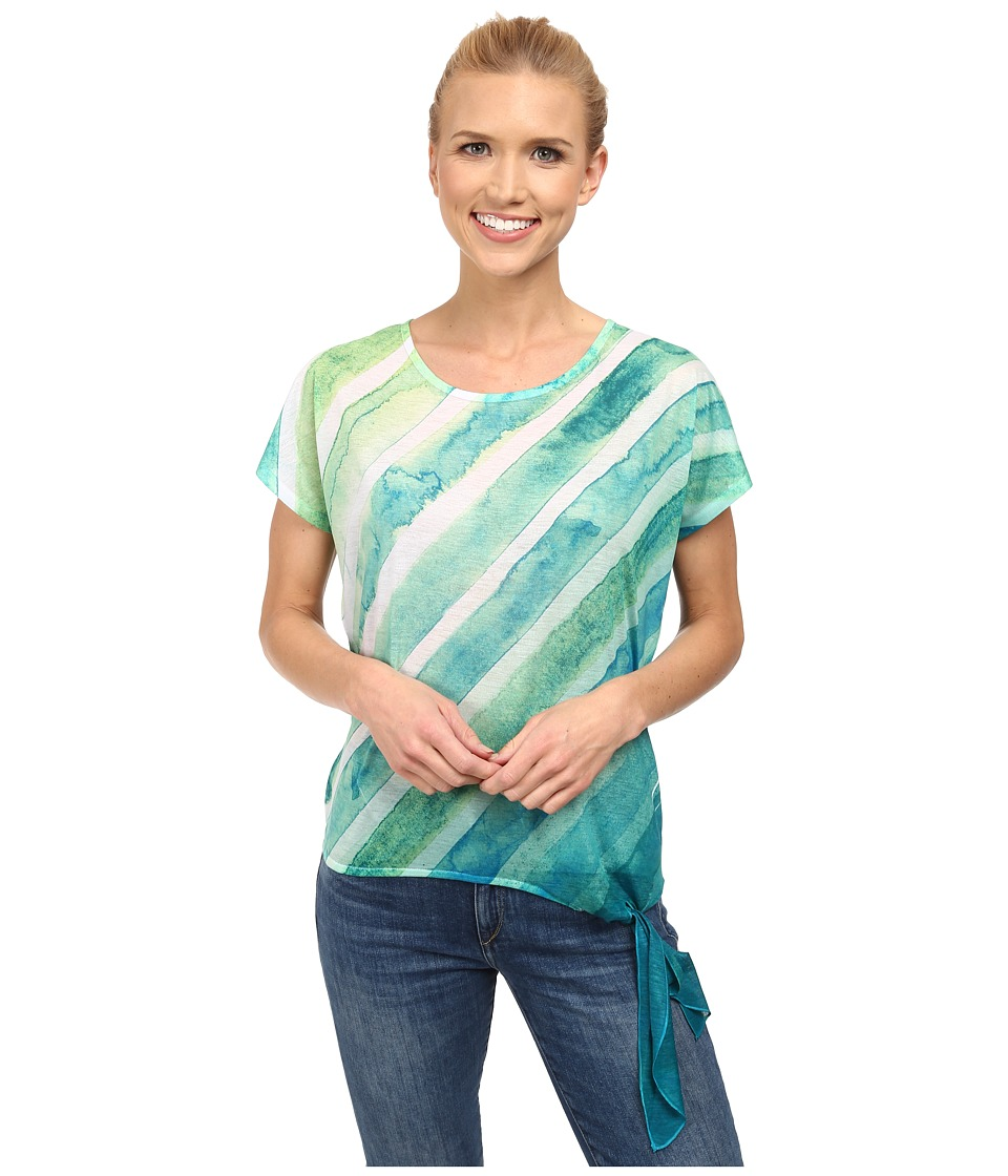 Prana - Flora Top (Cool Green) Women's Short Sleeve Pullover