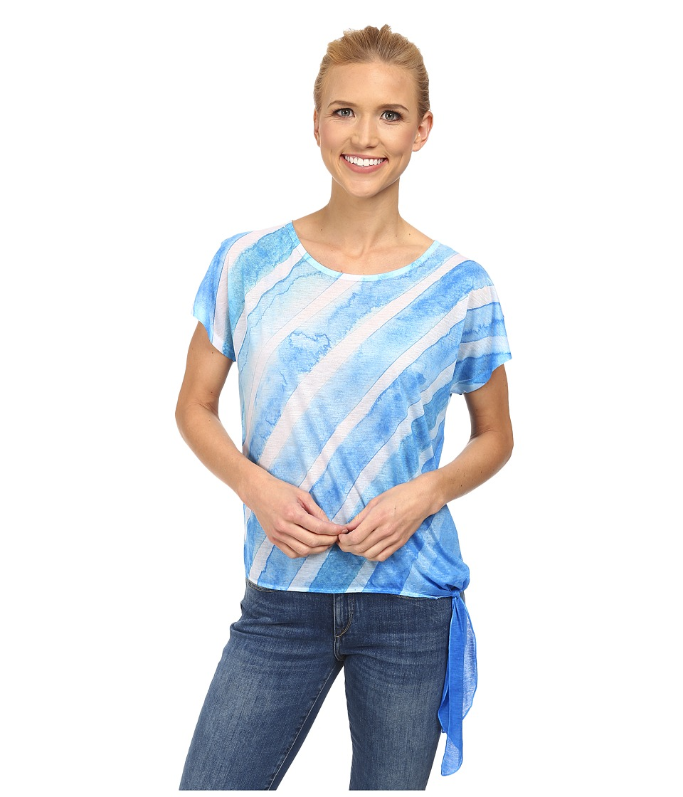 Prana - Flora Top (Danube Blue) Women's Short Sleeve Pullover