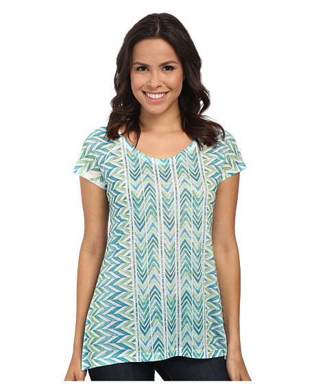 Prana - Danni Top (Cool Green) Women's Short Sleeve Pullover