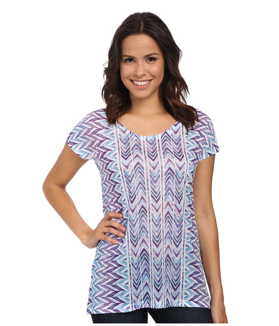 Prana - Danni Top (Sail Blue) Women's Short Sleeve Pullover