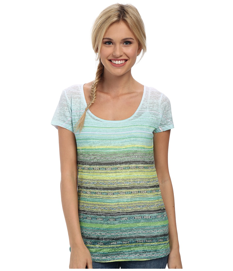 Prana - Ribbon Tee (Aquavite) Women's Short Sleeve Pullover