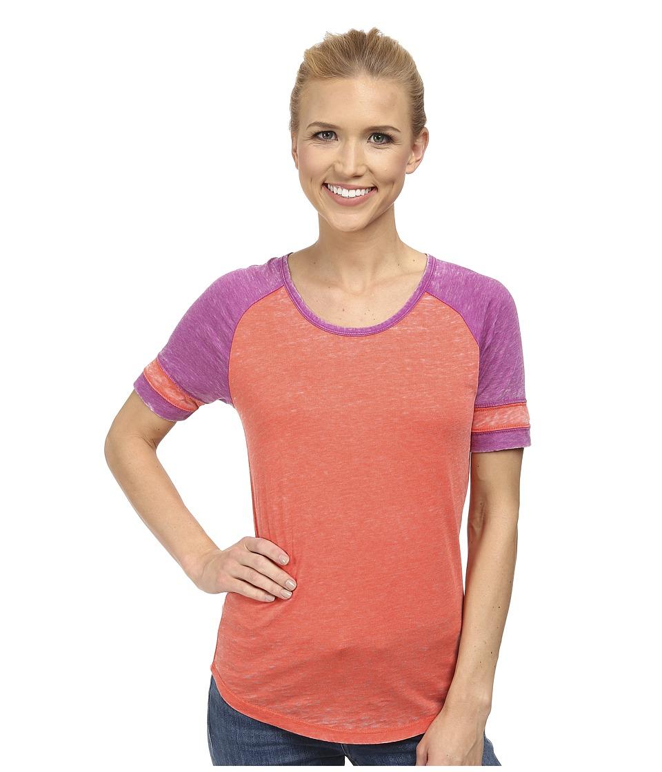 Prana - Cleo Tee (Neon Orange) Women's Short Sleeve Pullover