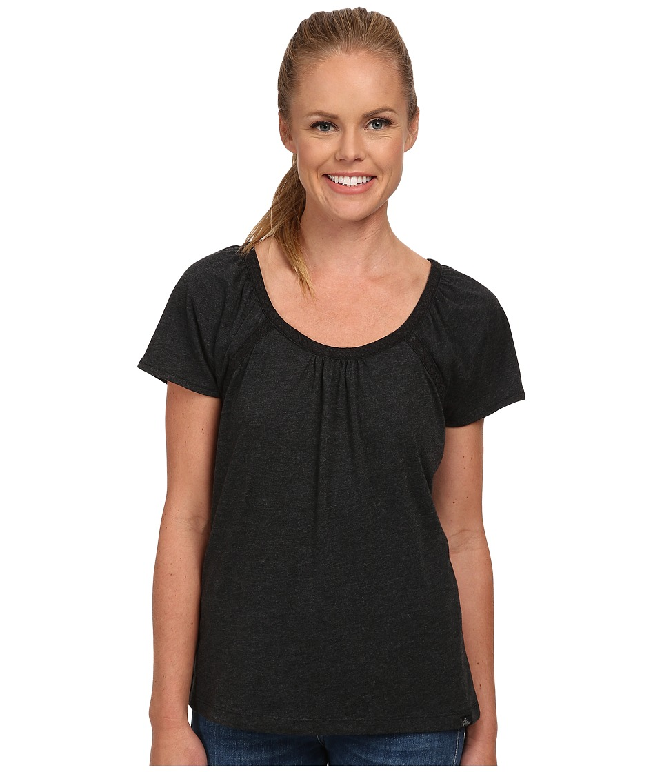 Prana - Kiki Top (Black) Women's Short Sleeve Pullover