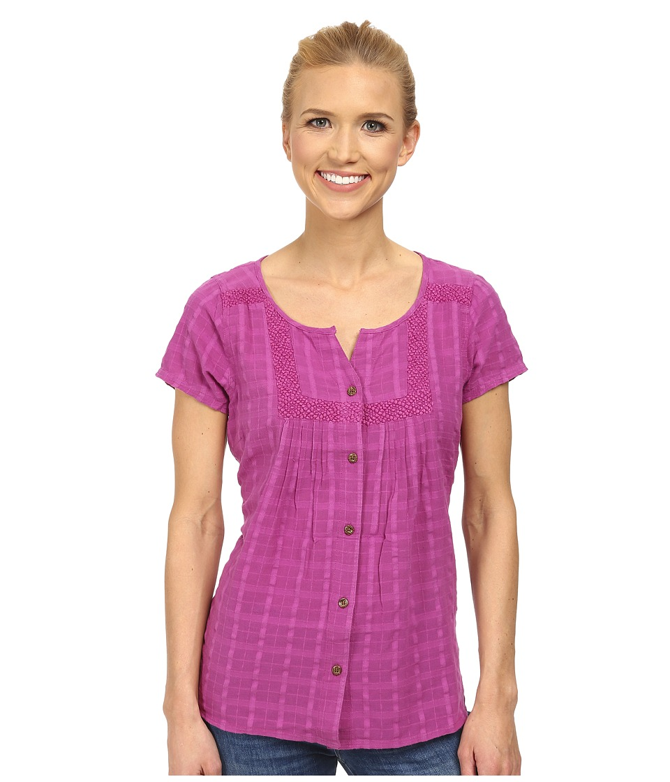 Prana - Lucie Top (Vivid Viola) Women's Short Sleeve Button Up